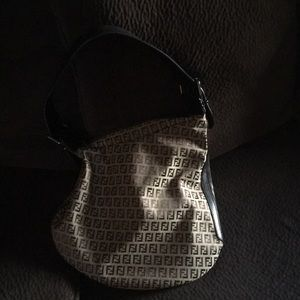 Authentic Fendi Zucca Large Hobo Shoulder Bag